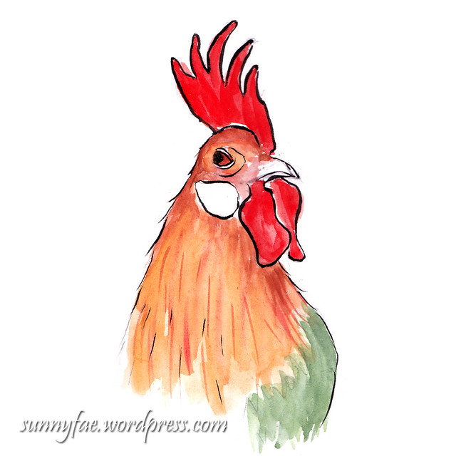 The Dutch Bantam rooster/cockerel