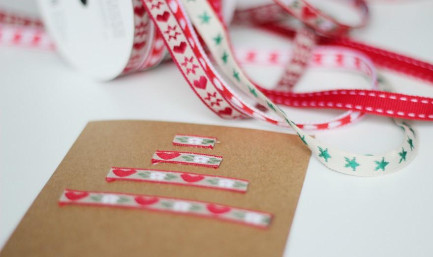 itsetehty joulukortti