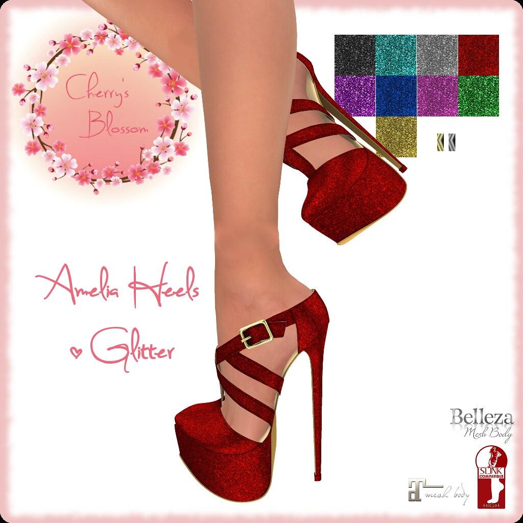 :CB: Amelia Heels Glitter Edition - TeleportHub.com Live!