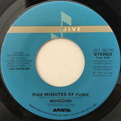 WHODINI:FIVE MINUTES OF FUNK(LABEL SIDE-A)