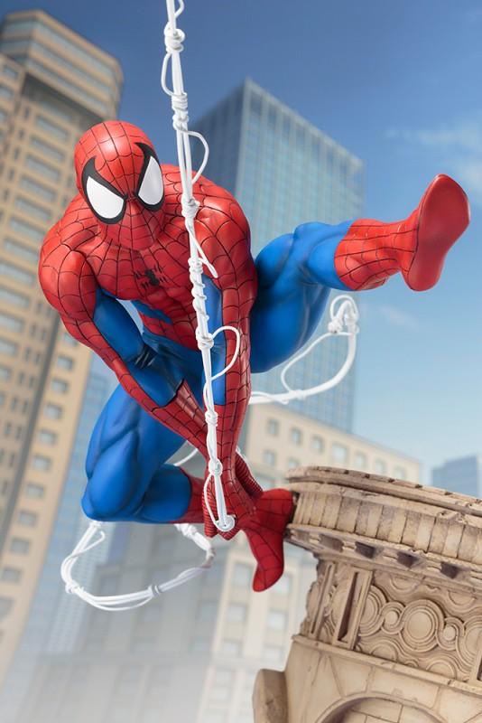將蜘蛛人飛盪的瞬間精彩立體化!! 壽屋 ARTFX 系列 Marvel Universe【蜘蛛人 Web Slinger】スパイダーマン ウェブスリンガー 1/6 比例全身雕像作品