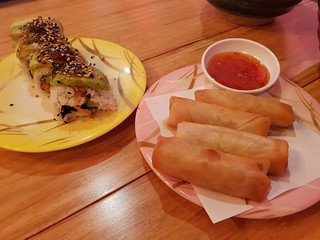 Garden Roll and Spring Rolls at MisoHapi