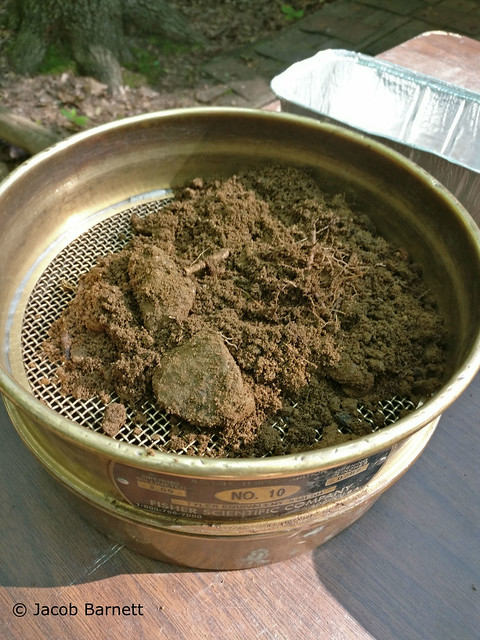 3.Sieve with soil with name