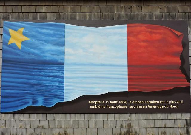 Acadian flag mural