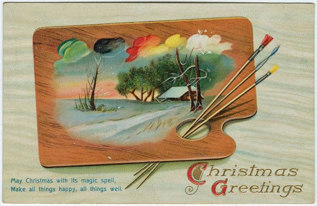 Old Christmas postcard (Courtesy of the NYPL)