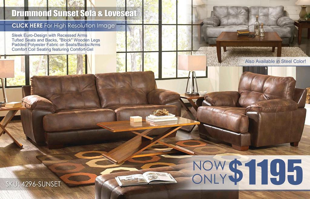 Drummond Sunset Sofa & Loveseat 4296