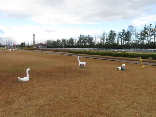 金沢競馬場の動物たちの遊具