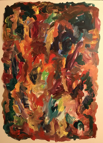 Susan Marx, 2017, Intense Autumn, 48x36, acrylic on canvas