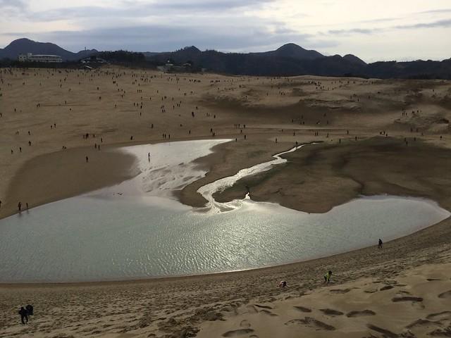 鳥取砂丘+オアシス(水たまり?)