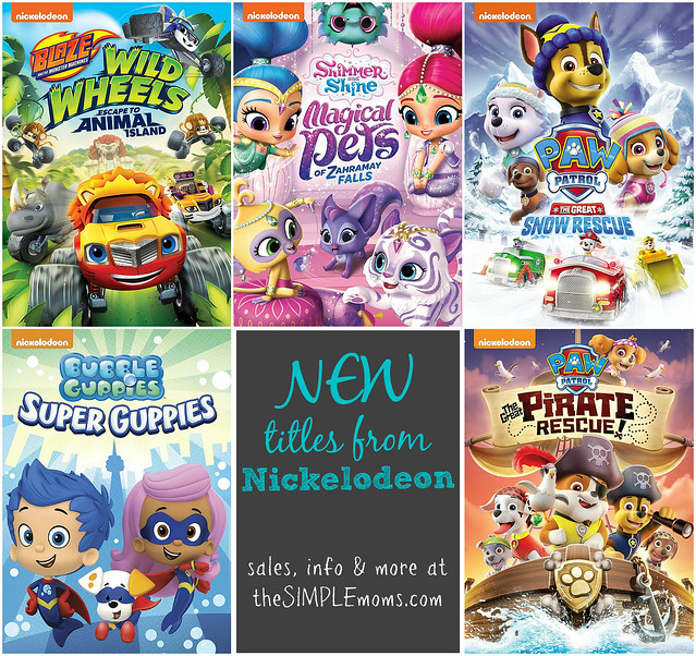 Nickelodeon Fall New Releases Collage