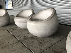 Round Concrete Chairs