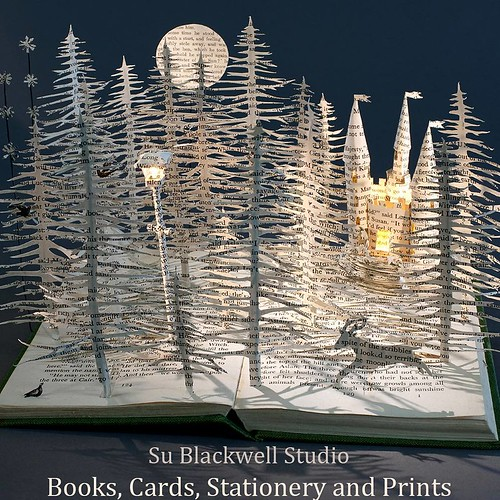 Altered Book Print by Su Blackwell