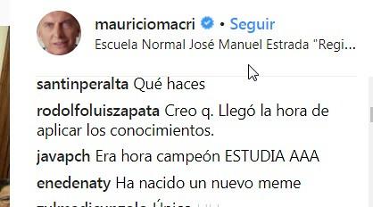 Macri comentarios 3