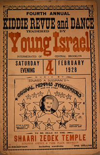 Poster [2017-8-45]: [Fourth Annual Kiddie Revue and Dance tendered by Young Israel. February 4, 1928.]
