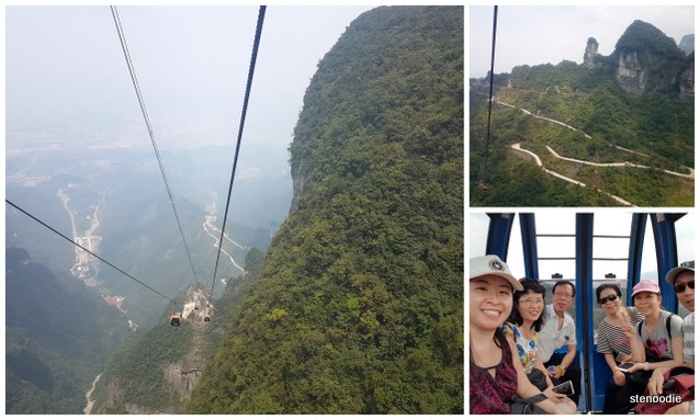 Tianmen Mountain cable car views