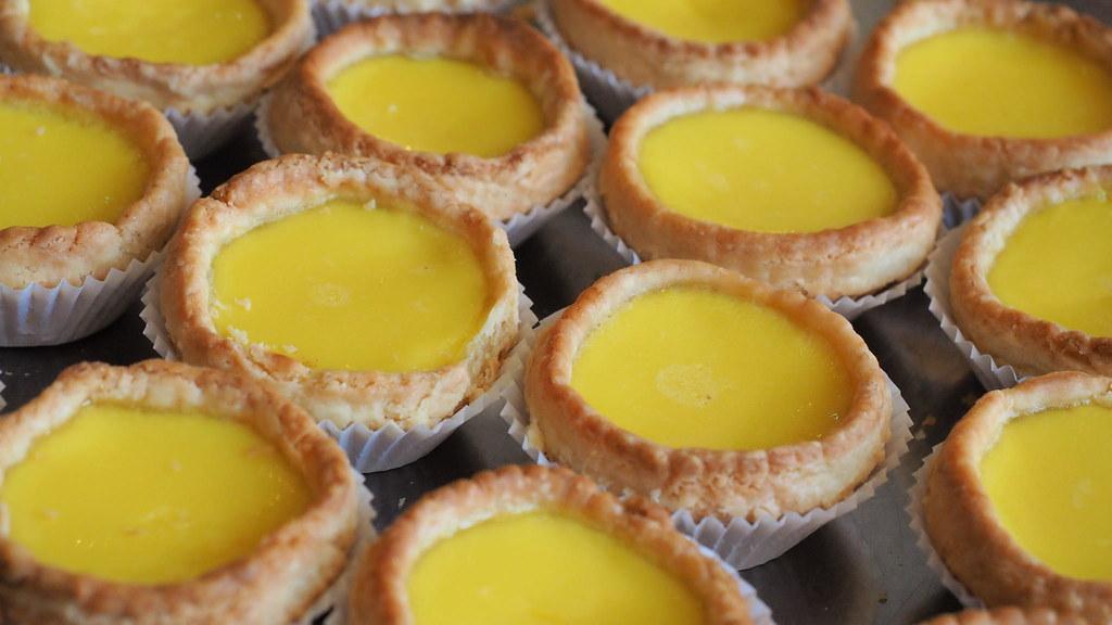 Egg tarts at Foh San Dim Sum Restaurant, Ipoh