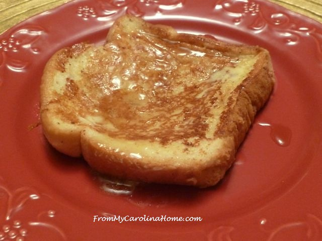 Cinnamon Egg Nog French Toast at From My Carolina Home