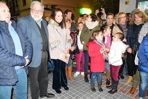 Inauguración del alumbrado de Navidad en la zona comercial