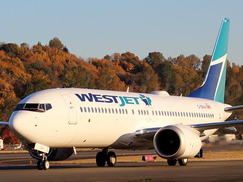 Boeing 737 MAX 8 WestJet C-GRAX LN6603