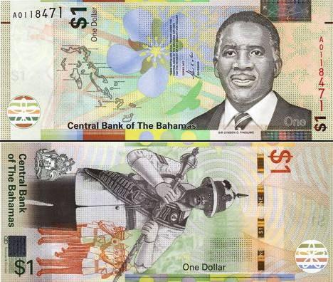 1 bahamský dolár Bahamy 2017, P77 UNC