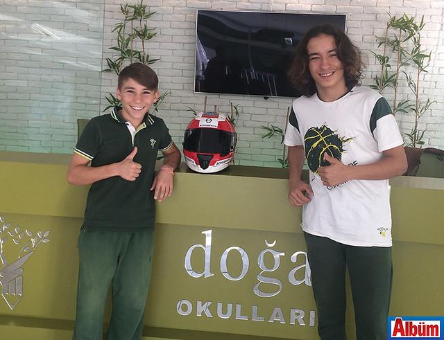 Alanya Doğa Koleji Anadolu Lisesi öğrencileri ikiz kardeşler Deniz ve Can Öncü motosiklet yarışında şampiyon oldu -2