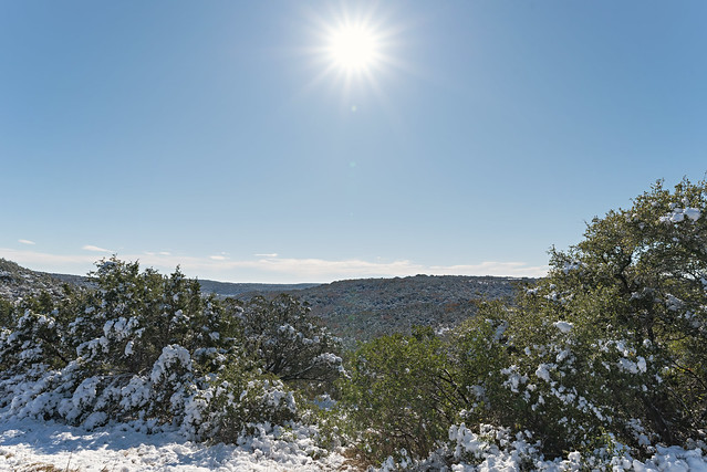 Texas Hill Country Snow