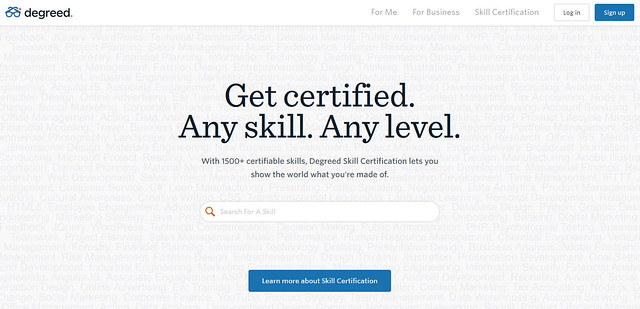 Degreed Landing Page