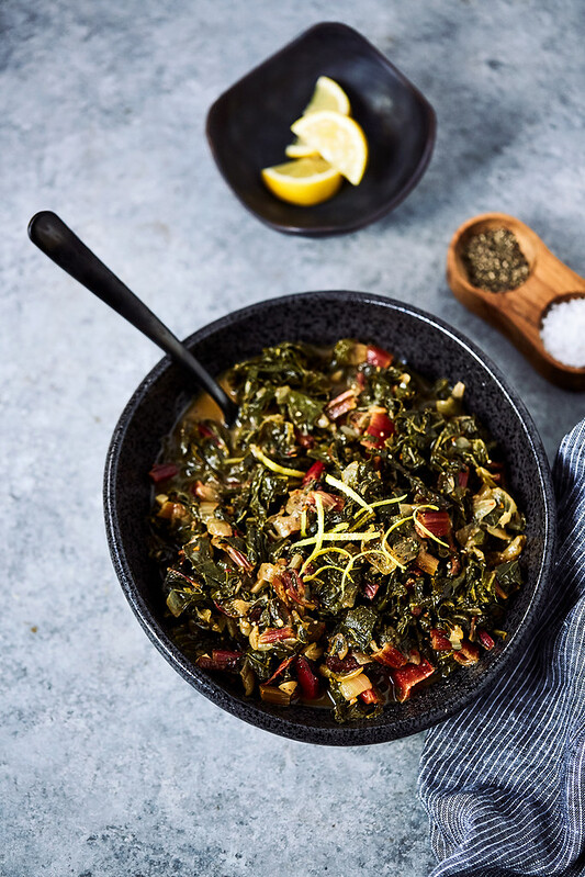 Bone Broth Braised Greens