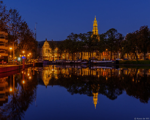Groningen Westerhaven at blue hour