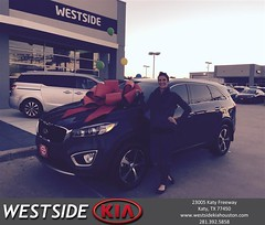 Happy Anniversary to Christine on your #Kia #Sorento from Luis Espinoza at Westside Kia!