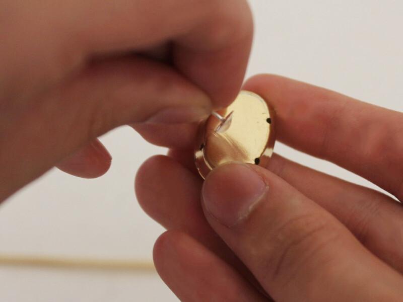 attaching earring to rhinestone