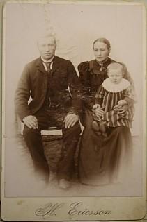John og Gusta Hiberg med datter Sofie