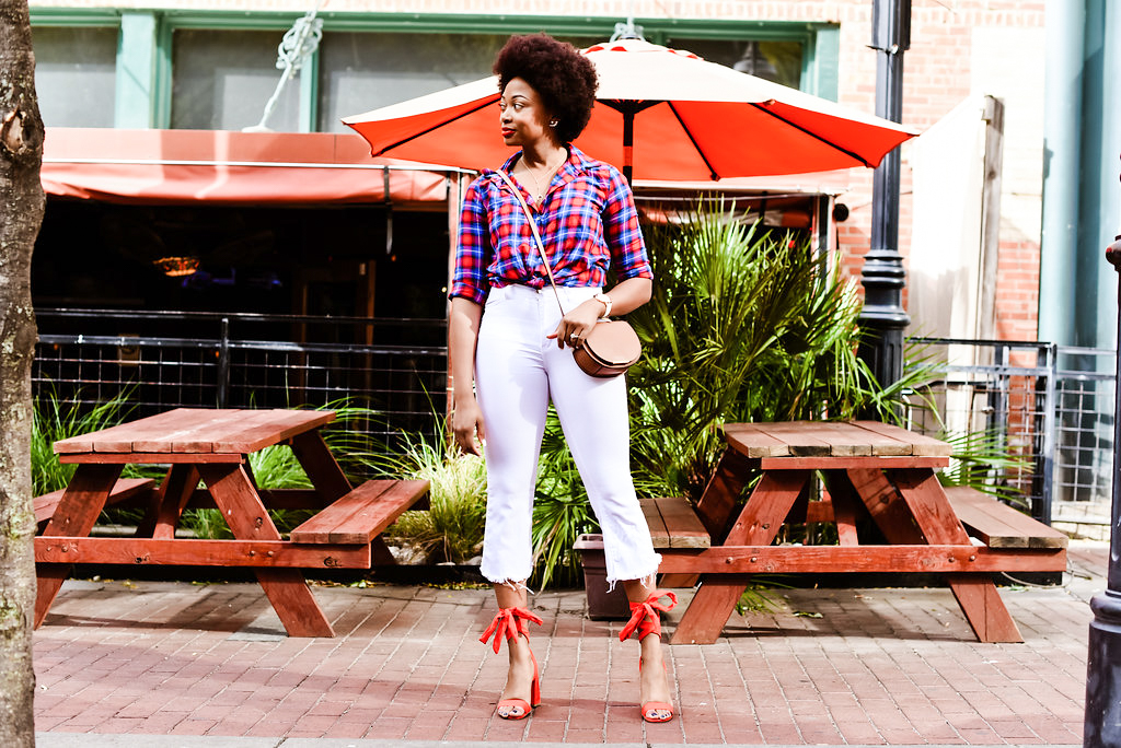 how to style white kick flares