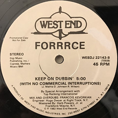 FORRRCE:KEEP ON DANCIN'(LABEL SIDE-B)
