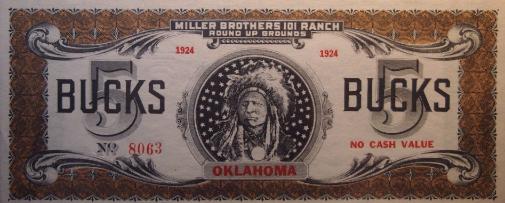 101 Ranch scrip 5 dollars