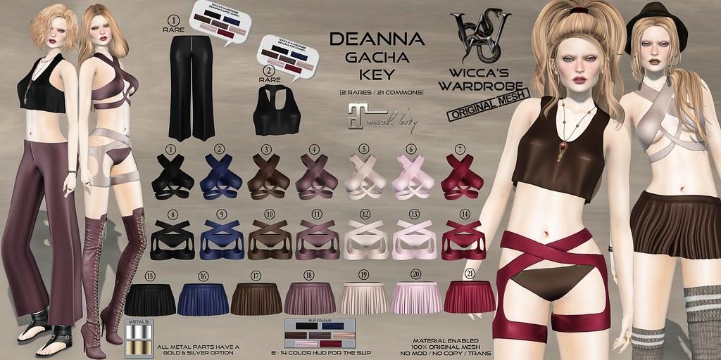 Wicca's Wardrobe – Deanna Gacha Key