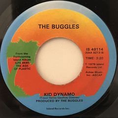 THE BUGGLES:VIDEO KILLED THE RADIO STAR(LABEL SIDE-B)