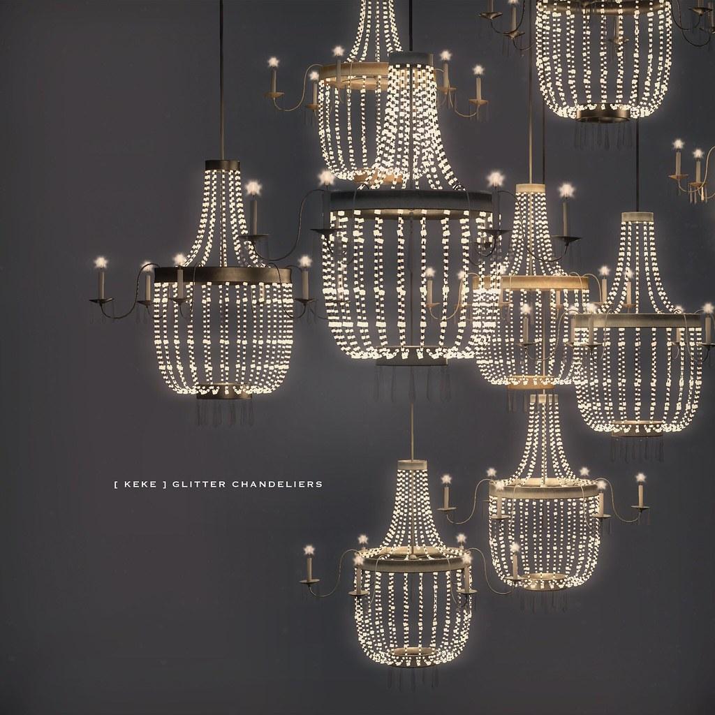 [ keke ] glitter chandeliers