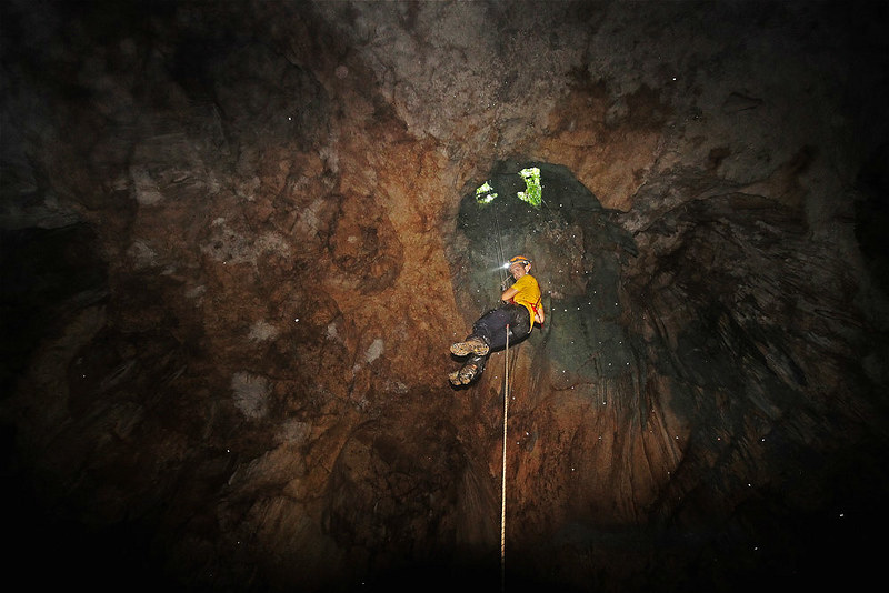 Exiting the cave using SRT