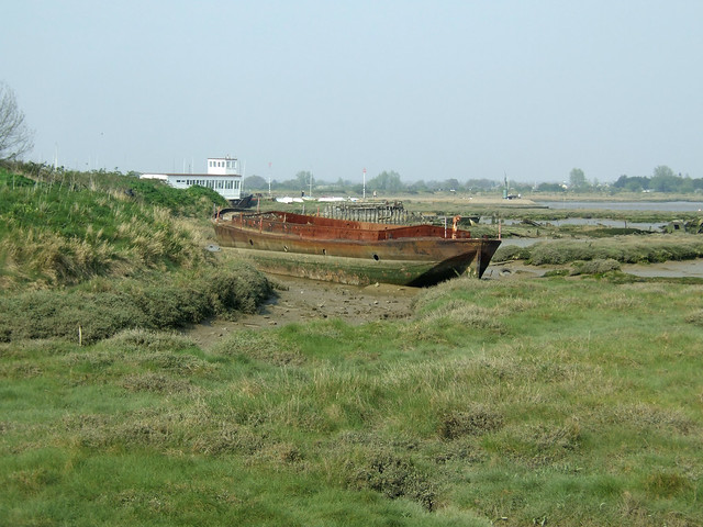 Ruined boats beside the Blackwater at Maldon