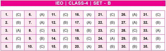 IEO Answer Key Class 4