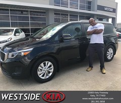 Congratulations Ray on your #Kia #Sedona from Rick Hall at Westside Kia!