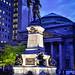 Monument à la mémoire de Paul de Chomedey, sieur de Maisonneuve at Place d'Armes Montréal Québec Canada at Night