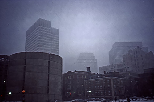 Downtown Boston in Winter, 1987