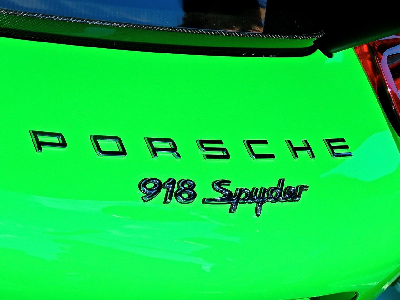 Green Porsche 918 Cars and Caffe 3