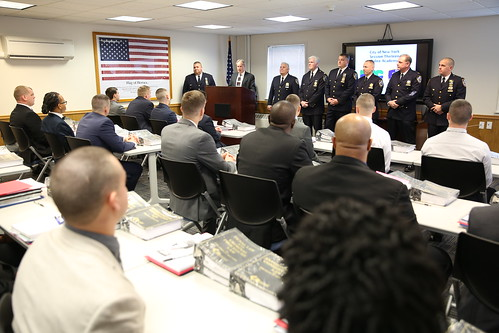 nyc dep welcomes 44 new recruits to the staff sgt robert h dietz