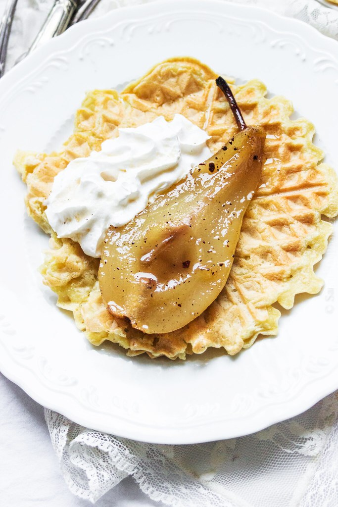 Roasted Pears, Espresso Chantilly