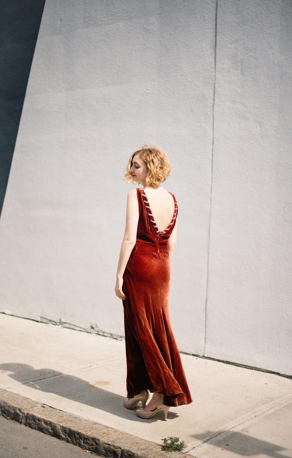 1930s Vintage Silk Velvet Dress from Oonas on juliettelaura.blogspot.com