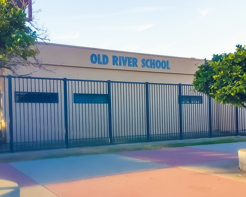 Old River School, Downey CA -  dimensional office letters