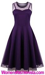 b27a15e9a5 KILOLONE Womens 50s Plus Size Dresses Christmas Party Vintage Retro  Bridesmaid Evening Lace Sleeveless Cocktail Dress ...